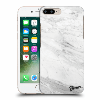 Hülle für Apple iPhone 7 Plus - White marble