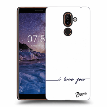 Hülle für Nokia 7 Plus - I love you