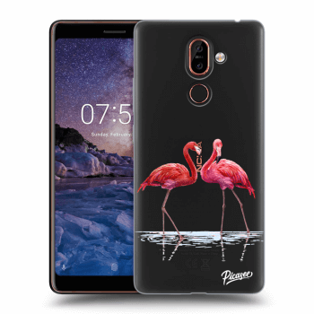 Hülle für Nokia 7 Plus - Flamingos couple