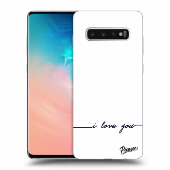 Hülle für Samsung Galaxy S10 Plus G975 - I love you