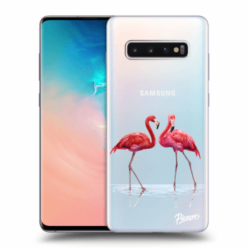Hülle für Samsung Galaxy S10 Plus G975 - Flamingos couple