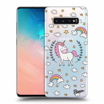 Hülle für Samsung Galaxy S10 Plus G975 - Unicorn star heaven