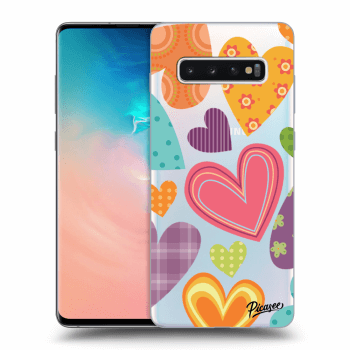 Hülle für Samsung Galaxy S10 Plus G975 - Colored heart