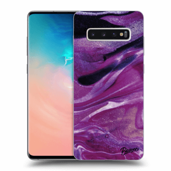 Hülle für Samsung Galaxy S10 Plus G975 - Purple glitter