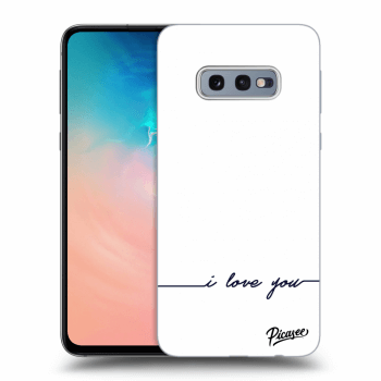 Hülle für Samsung Galaxy S10e G970 - I love you