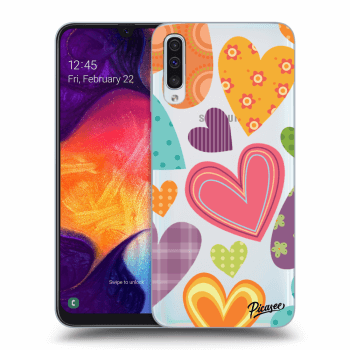 Hülle für Samsung Galaxy A50 A505F - Colored heart